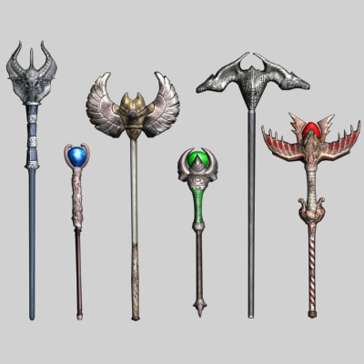 Fantasy RPG Staff Weapons
